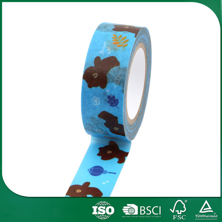 wholesale customized washy tape for craft cardmaking