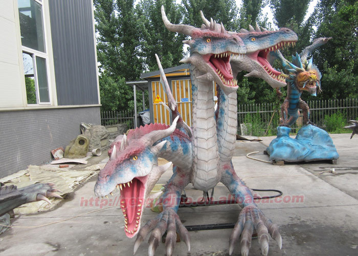 Garden Decoration Artificial Life Size Dragon Statue