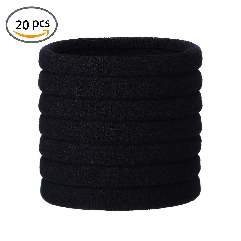 KWJOY Seamless 5cm in Diameter Elastic Cotton stretch Hair Ties Bands  Simply Hair Ties Ponytail Holders da51af19477