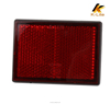 Red round reflex plastic light reflector for motorcycle KM203