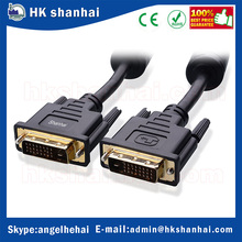 dvi to dvi 4k ultra hd video ferrites connecting computer gold plated DVI-D dual link cable 1080P 3D video cable