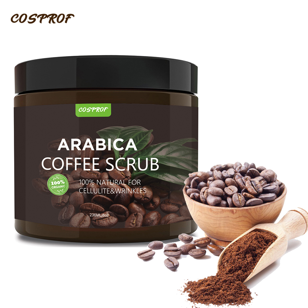 Commercio all'ingrosso Private Label 100% di Origine Naturale Arabica Exfliation Caffè Faccia Scrub Corpo