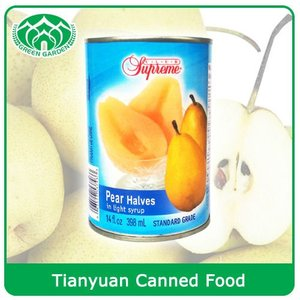 New Crop Canned Pear Halves in Syrup