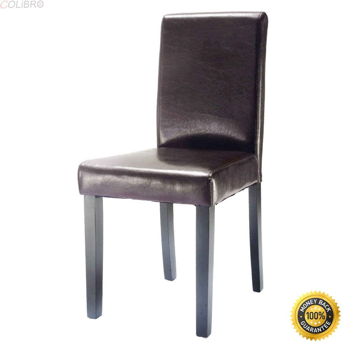 Colibrox Set Of 4 Elegant Design Leather Contemporary Dining Chairs Home Room