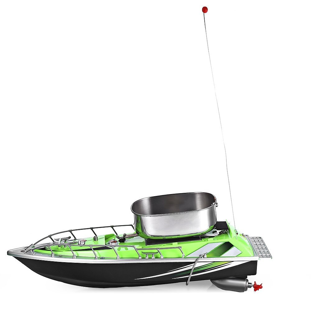Mini Wireless 200M Remote Control Radio Bait Fishing Nest Lure Boat, RC Fishing Ship for Finding Fish