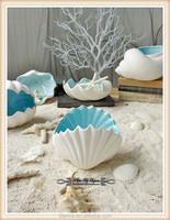 porcelain bulk tea light holder sea shell design candle holder