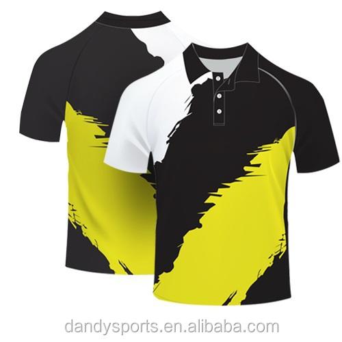2016 Latest Customized Polo Shirts/cricket Polo T-shirt Full Sublimation  Printing - Buy Wholesale 100% Polyester Full Sublimation Embroidered Logo  Men