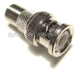 Ni plated F type female to bnc male adapter rf coaxial connector
