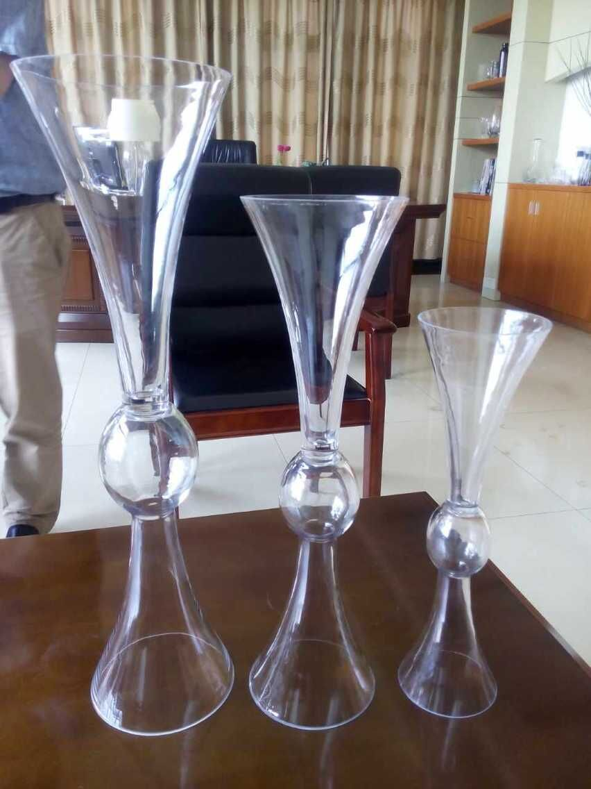 LHP005 popular selling clear bulk wholesale glass vases