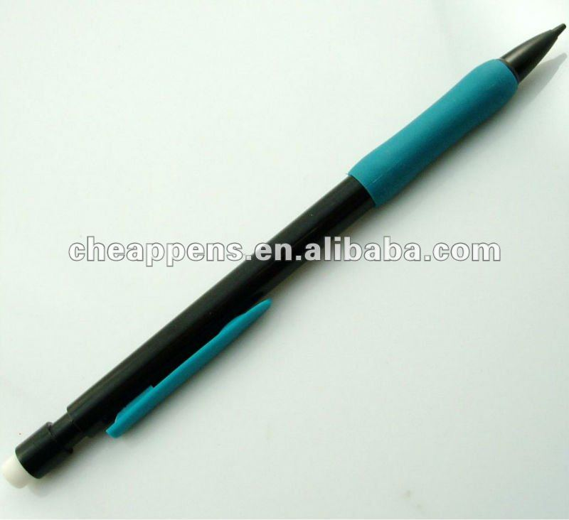 office writing plastic logo printed mechanical pencil 0.5/0.7mm
