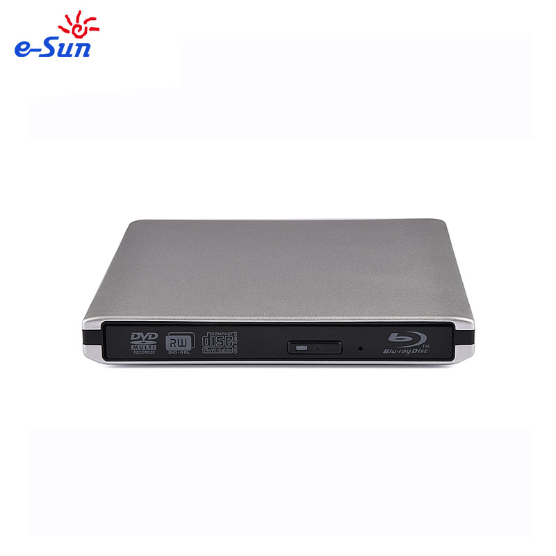 E-sol Nova marca portátil blu ray player 12.7mm USB 3.0 leitores de DVD External bluray Writer