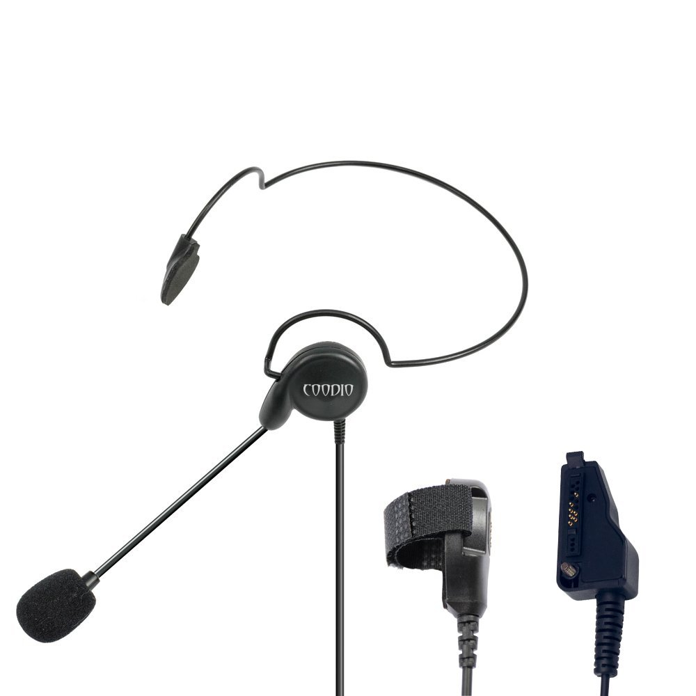 Cheap Kenwood Mic Wiring Find Deals On Line At Radio Headset Diagram Get Quotations Coodio Tactital Behind The Head Earpiece Boom Microphone Noise