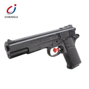 Summer toy pistol shaped black plastic water gun