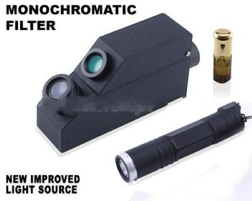 External Monochromatic Yellow Light Gem Refractometer, + 1.80 RI Oil, Gemological. GIA TOOLS