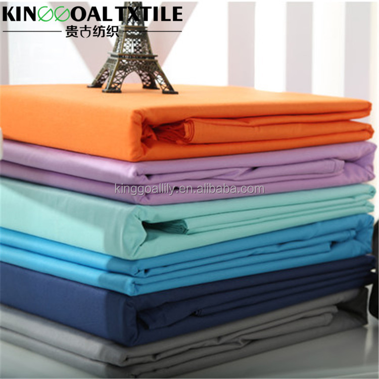 Wholesale hotel /home used 100% Cotton 300TC plain flat cheap bed sheet
