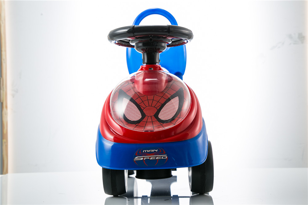 Spideman design ride on car kid push car baby walker with 4 wheels