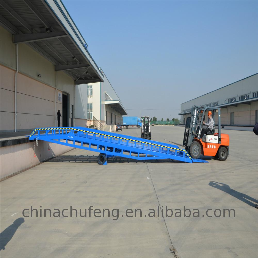 Factory wholesale 8Ton hydraulic dock leveler / Stationary hydraulic loading ramp lift With ISO9001 Certificate