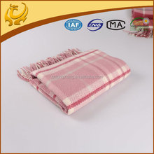 latest design factory price reversible wool waffle weave blanket