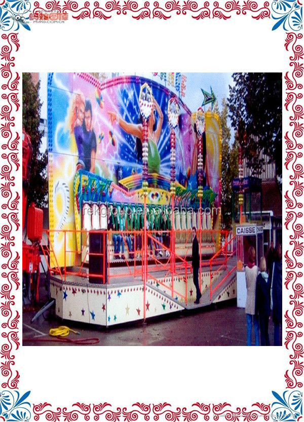 Shock resistant Profitable Crazy Amusement Miami Trip Fairground Top Spin Rides for sale with CE approved
