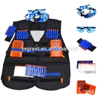 Factory price wholesale Adjustable Black Camouflage Soft Bullet Tactical Vest Kit for children Adult