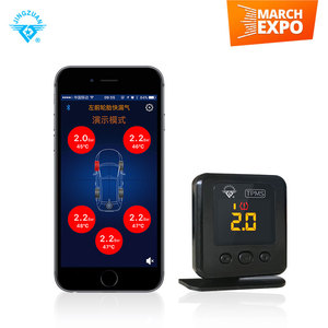 HOT SALE bluetooth TPMS for smart phone and 100 Psi Max Pressure direct TPMS with external sensor for bus