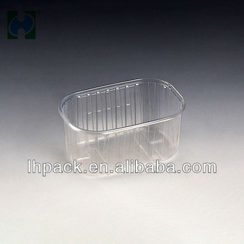 Wholesale Custom Size And Shape Disposable Fruit Food Plastic Container