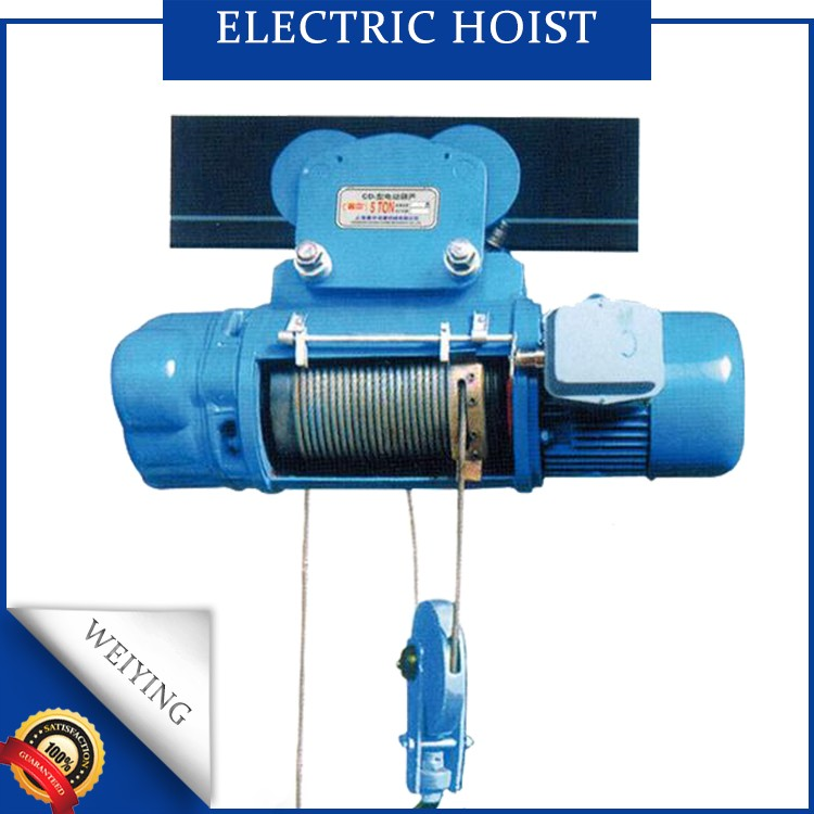 china 1 ton wire rope electric hoist for overhead crane