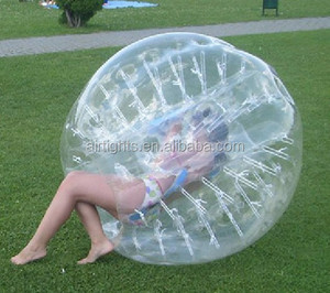 Cheap price China factory sale Clear inflatable body bubble ball suit for kids