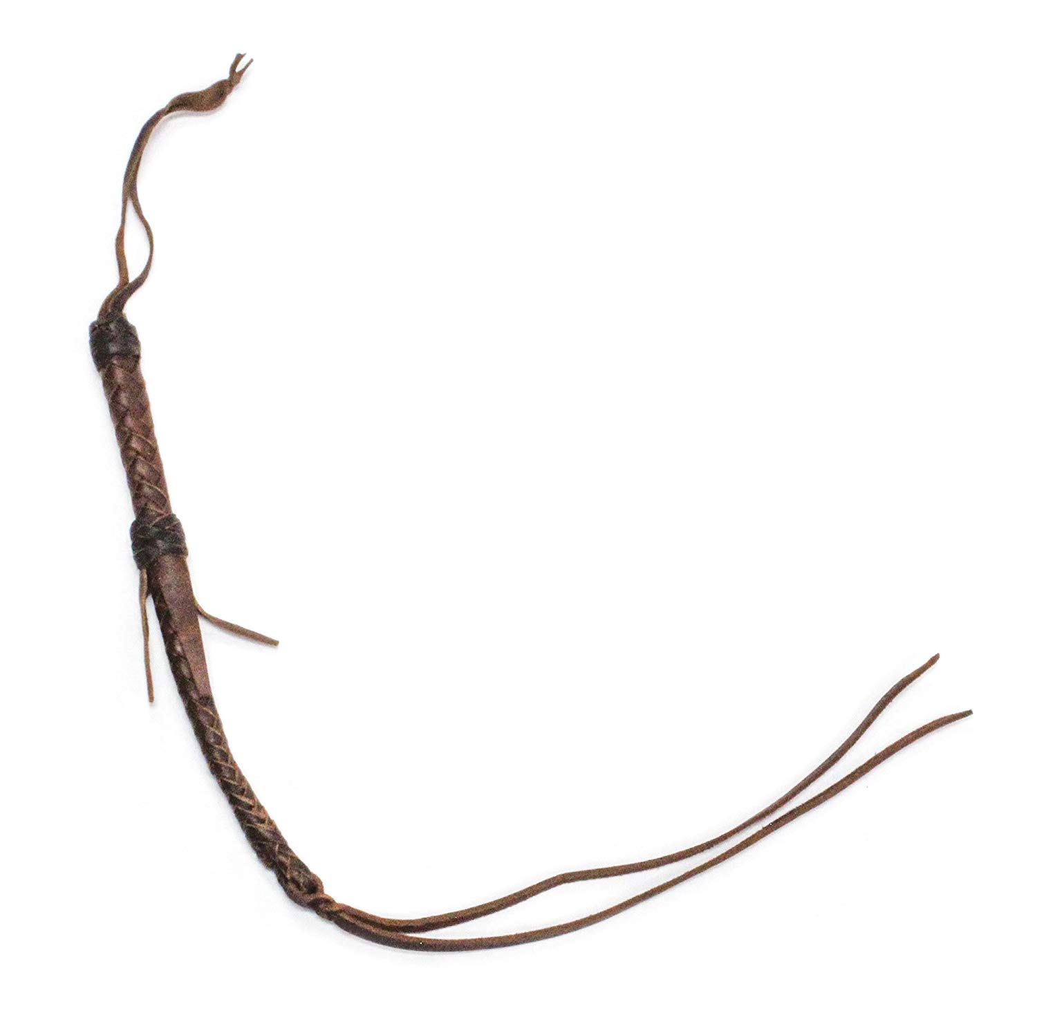 M-Royal Western Barrel Racing Leather Quirt Braided Quirt Whip