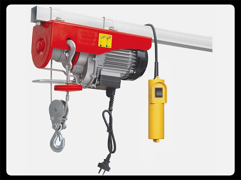 Electric Hoist Lift Crane Overhead Garage Winch Remote 110 Volt -880 LB Capacity - House Deals