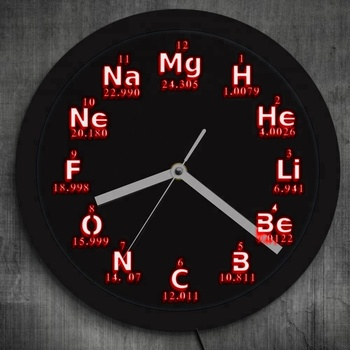 science chemical elements led wall clock periodic table element neon wall clock buy neon wall clockwall clockscience chemical elements product on