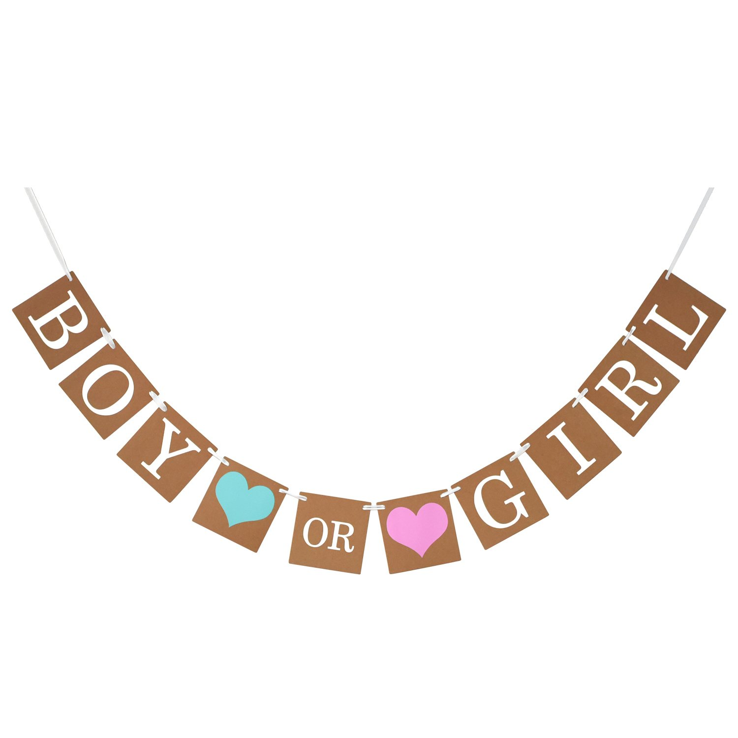 eBoot Baby Shower Decorations Boy or Girl Banner Gender Reveal Bunting Flag Baby Gender Show Party Favors Pregnancy Announcement