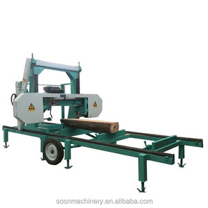 horizontal diesel log portable band sawmill for log
