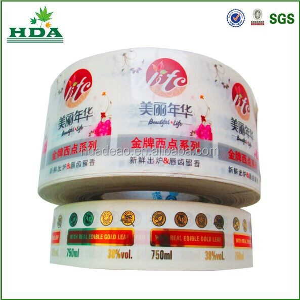 promotion adhesive label stickers printing, self adheisve plastic roll stickers
