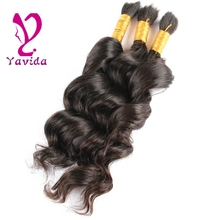 Model Model Pose Loose Deep Braiding Hair Bulk