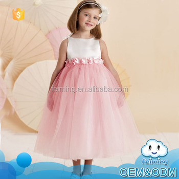 Whole Fashion Sleeveless Belted Designer Flower Patterns Children Clothes Age Cool Baby S Party Dress