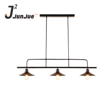 Industrial Vintage Chandelier Shade E27 Decoration Edison Lamp Modern Round Metal Pendant Light For Dining