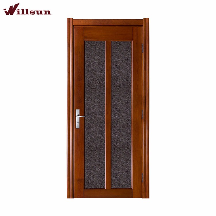 High End Interior Glass Doors For Timber Flush Door With Simple