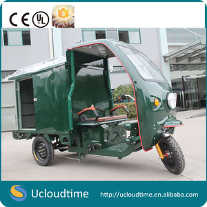 Electric Advertising cargo tricycle/trike for Express Ice Cream,Pizza,Bread,drinks,foods promotion sales