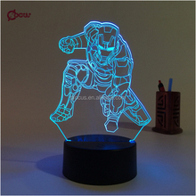 The Avengers Iron Man 3d led table lamp, energy conservation led light lamp
