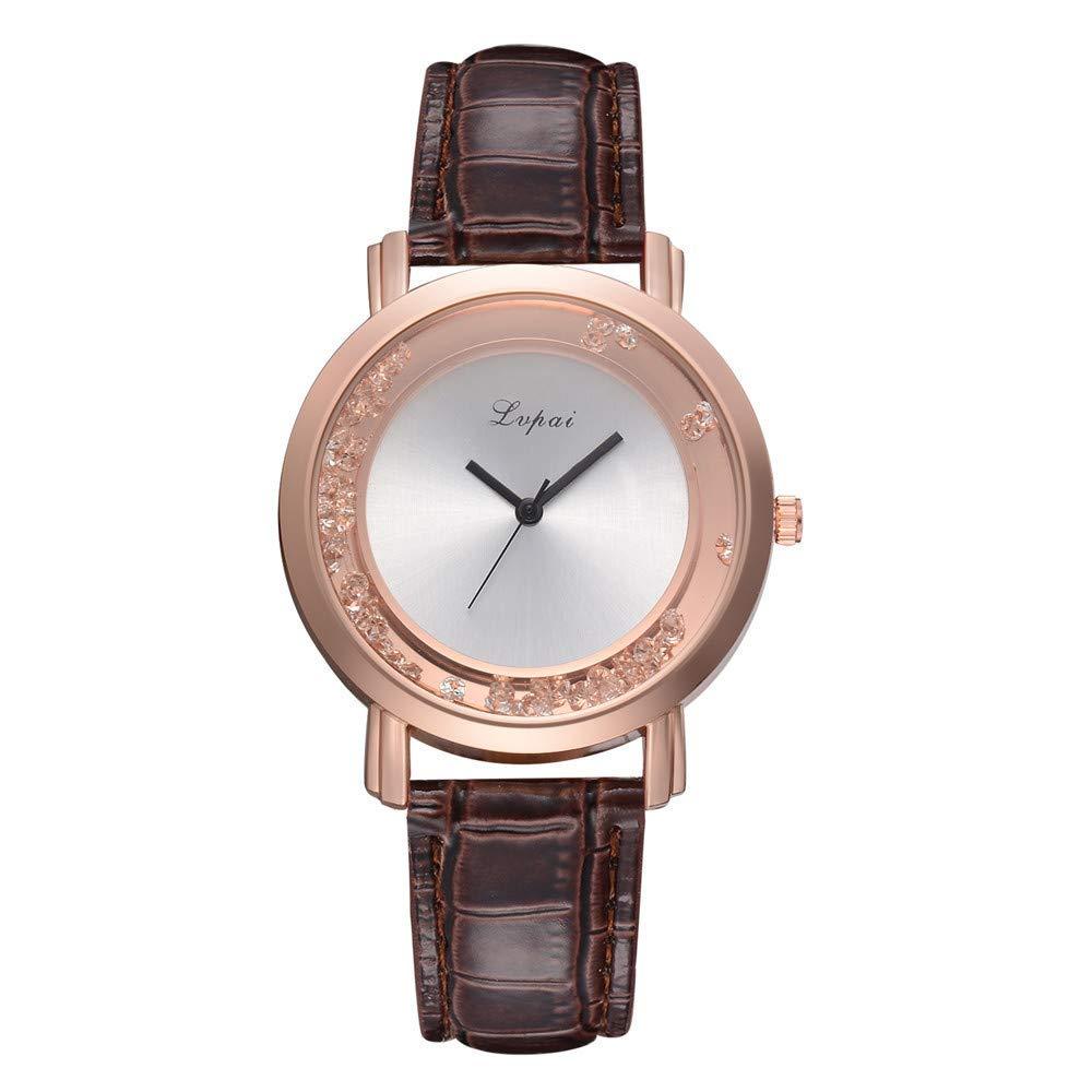 AKwell Casual Quartz Leather Band Watch Analog Wrist Watch Scroll Disc Fashion Women's Watch