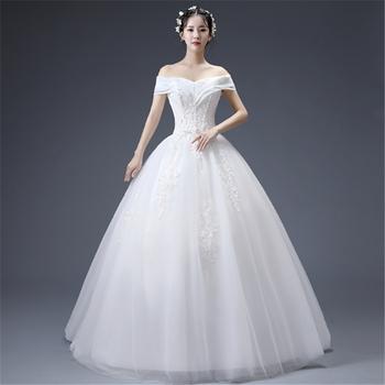 2019 Korea Eropa Fashion Off Bahu Elegan Renda Putri Maxi Lantai