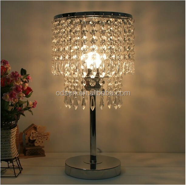 modern home goods crystal table lamps