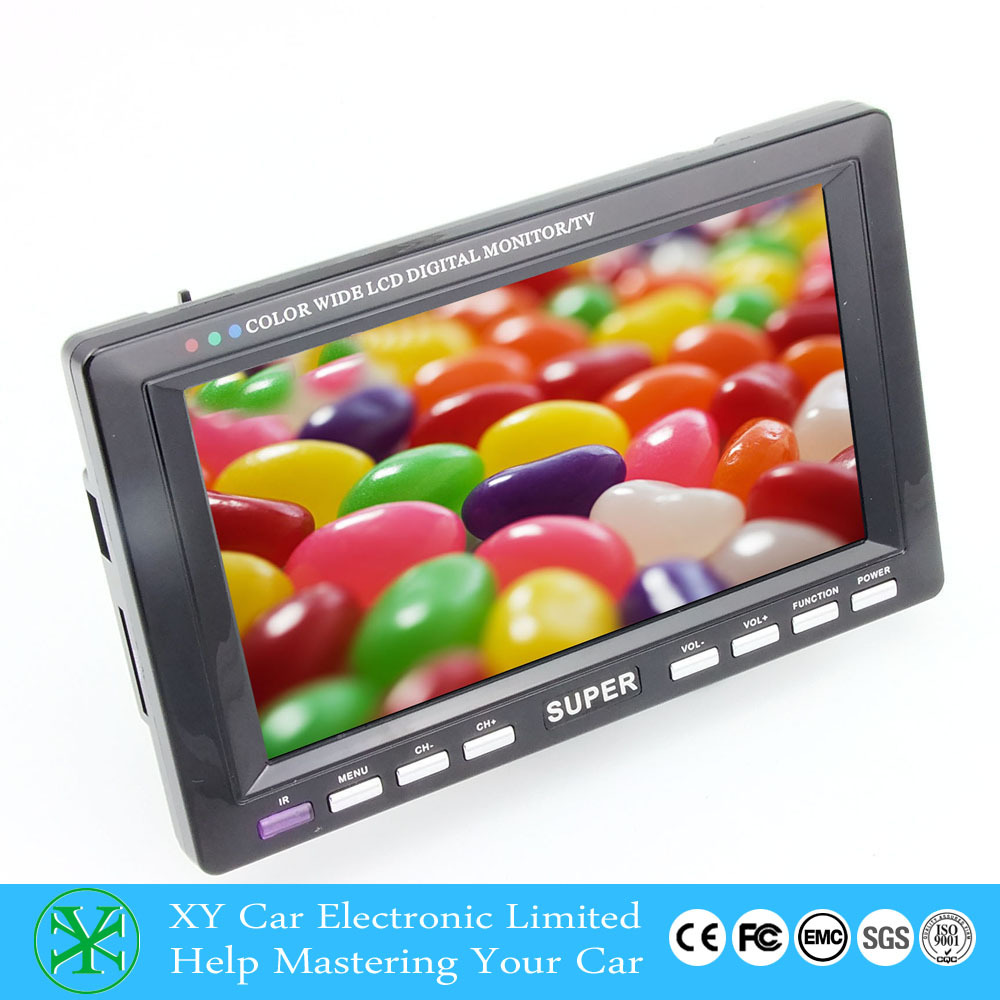 Car 7inch TV Monitor mini tv monitor stand With USB SD mp3 mp4 Player XY-2072