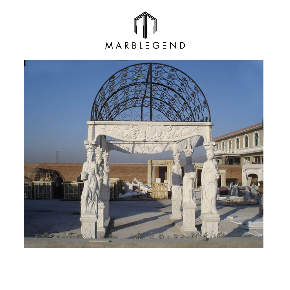Hot Cake Marble Gazebo Designs At American Market With Metal Net Roof - Buy  Outdoor Gazebo With Metal Roof Product on Alibaba com