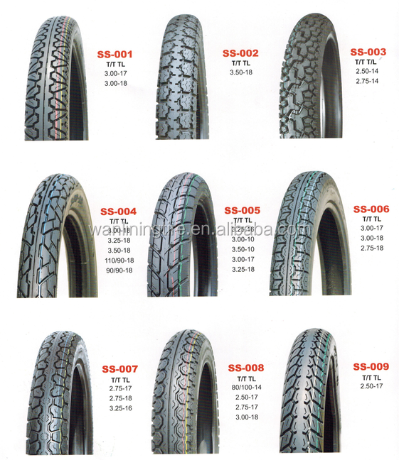 Factory price wholesale nylon tubeless motorcycle tire 2.50-16 2.75-17 2.75-18 moto wheels and tires