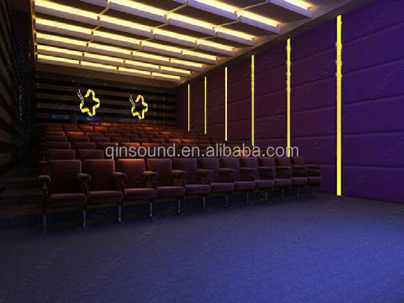 2016 Concert Hall Project Sound Isolation Leather Wall Tiles Show Room Design