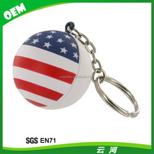 Winho Promotion Red color PU stress ball keyring With Sport
