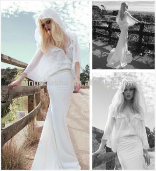 Top Quality Chiffon Mermaid Bridal Gowns Particular Inbal Dror ...