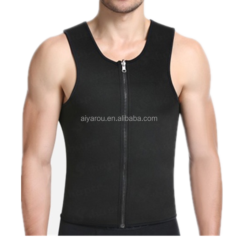 2017 Top Quality Neoprene Gym Vest Sports Body Shapers Men Tank Top Fitness Body Building Clothes